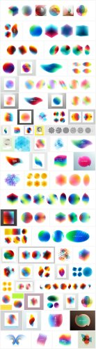 Download Abstract geometric Vector Graphics of Overlapping Design Elements