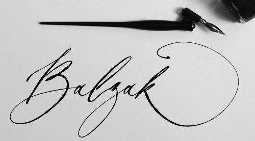 Balzak Font - Organic Calligraphy