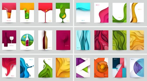Get Colorful Vector Graphics of Papercut Illustrations
