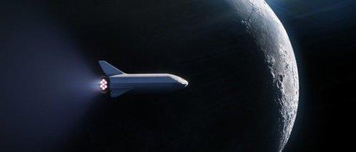 Un uomo attorno alla Luna con Space X
