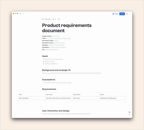 How To Write A Product Requirements Document: A Guide & Template