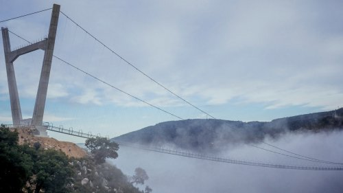 World's 'longest pedestrian suspension' bridge opens in Portugal