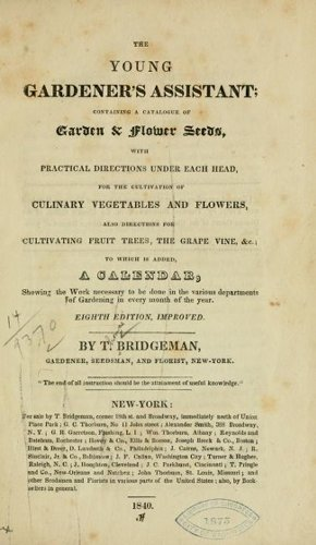 Historical Garden Books – 124 in a series – The Young Gardener's Assistant (1840)