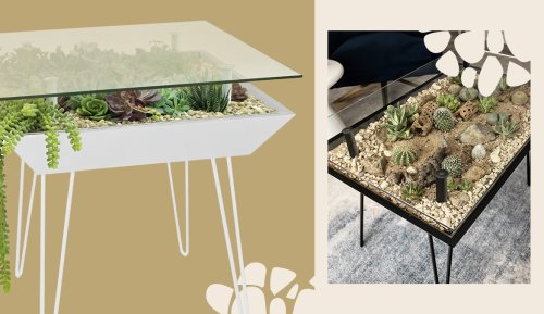 This Furniture Line Focuses on 'Blooming Tables', and Is the First That Incorporates Plants Right Into the Design