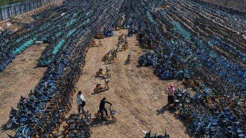 Hier rosten Tausende weggeworfene Leihräder