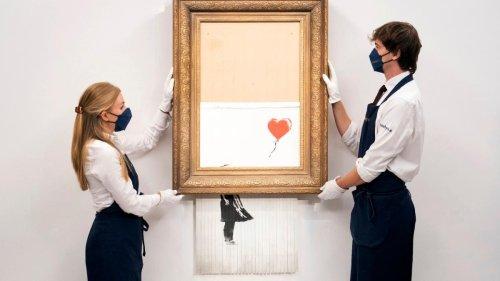Jetzt live – Halb geschreddertes Banksy-Kunstwerk wird wieder versteigert