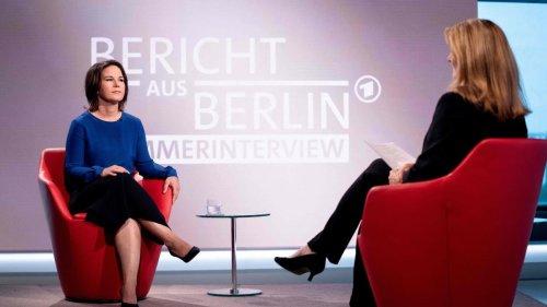 ARD-Moderatorin entschuldigt sich für Frage an Baerbock