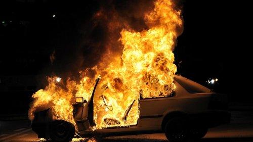 Mehrere Fahrzeuge vollständig ausgebrannt