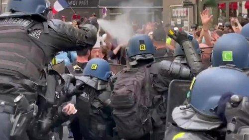 Gewalttätige Proteste gegen Corona-Maßnahmen in Teilen Europas