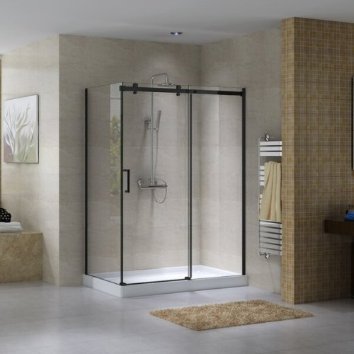 """Hasper 48"""" x 78.75"""" Rectangle Sliding Shower Enclosure with Base Included"""