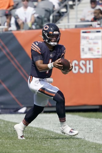 The Latest: Fields steps in for Bears with Dalton doubtful