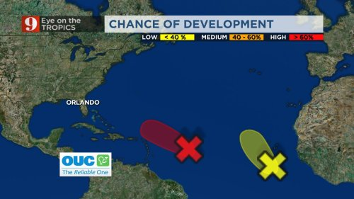 Eye on the Tropics: Odette stays away from East Coast, watching 2 other developing storms