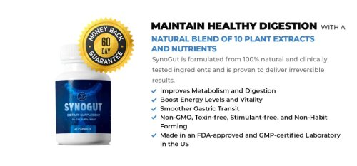 SynoGut Review - Best Digestion Health Supplement!!