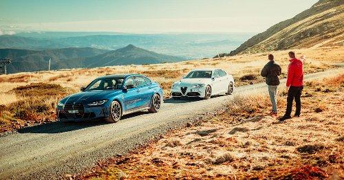 2021 BMW M3 Competition v Alfa Romeo Giulia Q comparison review