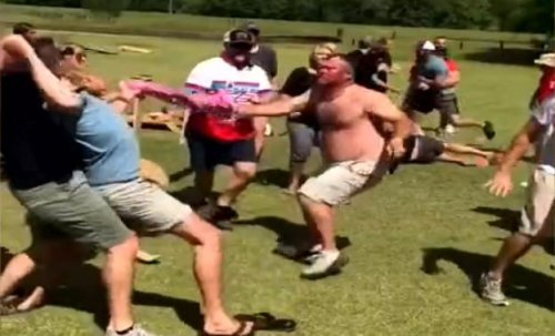 This Cornhole Tournament Dad Brawl Is Still One Of The Funniest Things On The Internet