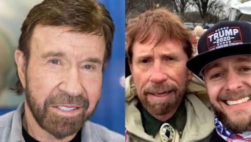 Chuck Norris Reacts to Riot Look-Alike