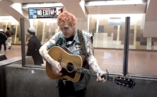 Remember When This Punk Rock Street Performer Broke The Internet With A Johnny Cash Cover?