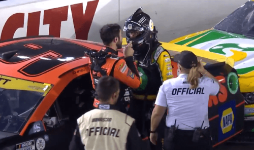 Chase Elliott & Kevin Harvick Get Into Heated Exchange Following NASCAR Playoff Race At Bristol