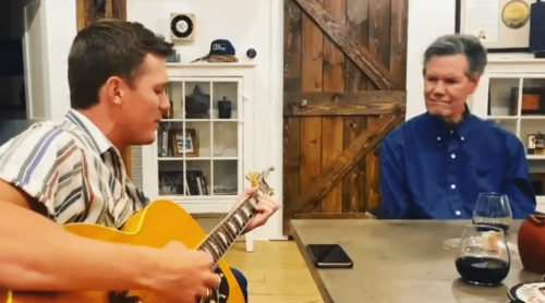 """Parker McCollum Plays """"Carrying Your Love With Me"""" For Randy Travis, Sippin' On Some Of His New Wine"""