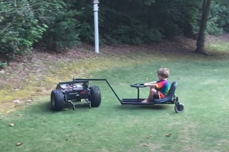 """Redneck Ingenuity: Dad Builds Son Incredible New """"Lawn Mower"""" Toy And I Need One Now"""