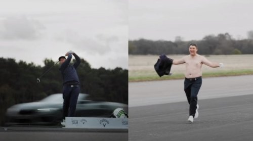 Golfer Breaks World Record Hitting Drive Into A Speeding BMW…. Goes Absolutely Bonkers
