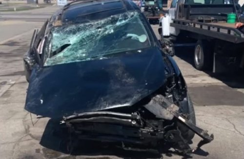 Minnesota Girl Hits Bear Going 70 MPH And Absolutely DESTROYS Her Brand New Car
