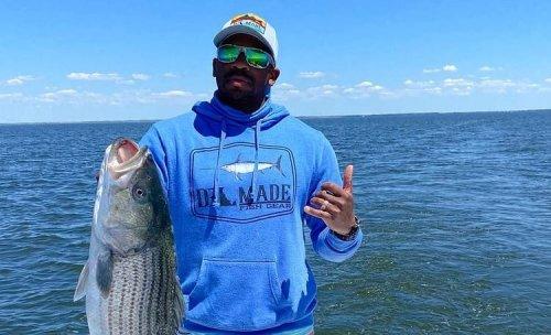Jimmie Allen Caught Himself A Huge-A** Striped Bass