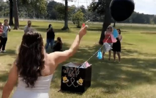 Woman Takes A Dart To The Foot In Idiotic Gender Reveal Fail