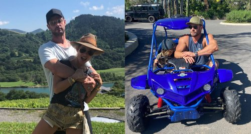 Chris Hemsworth and Elsa Pataky share an adorable Easter egg hunt with the kids