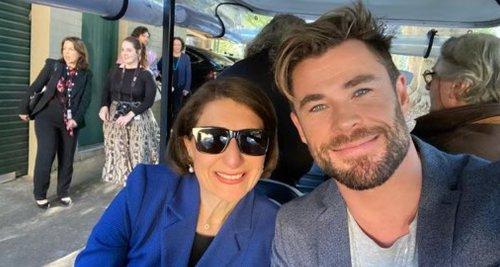 Chris Hemsworth and Gladys Berejiklian announce Mad Max prequel, filmed in NSW