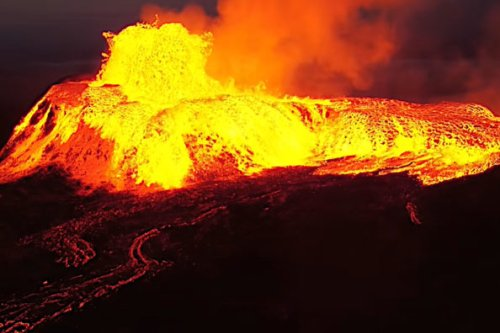 Volcanic Crater Violently Erupts, Covering Whole Mountain in Lava