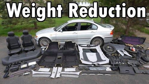 Ein BMW auf sein absolutes Minimalgewicht heruntergebastelt