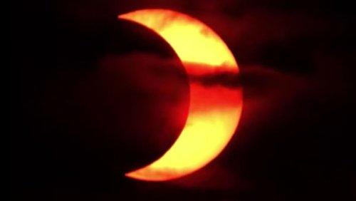 Die Sonnenfinsternis Ring of Fire