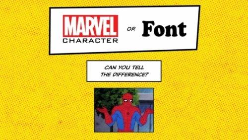 Marvel Charakter oder Schriftart