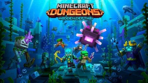 The next Minecraft Dungeons DLC is officially called 'Hidden Depths'
