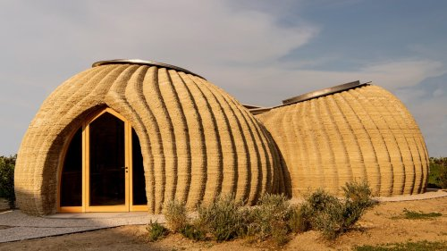 This 3D-printed house is made entirely from mud