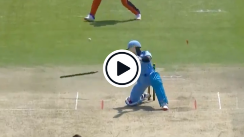 Watch: 'He's Destroyed The Timber!': Batter Late Cuts His Off Stump To Depart Hit Wicket