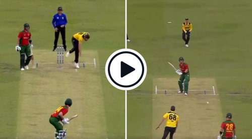 Watch: 'Shortest Short Ball' - Andrew Tye Bouncer Goes Hilariously Wrong, Batter Threatens To Hit It Anyway