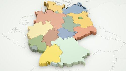 Die größten Bundesländer Deutschlands nach Fläche