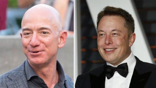 Jeff Bezos gratuliert seinem Weltraum-Rivalen Elon Musk