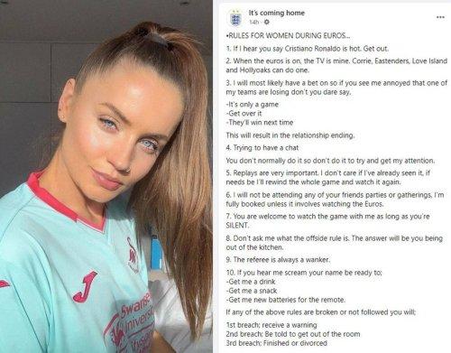Sexistische Regeln für Frauen beim Fußballschauen aufgetaucht - wmn