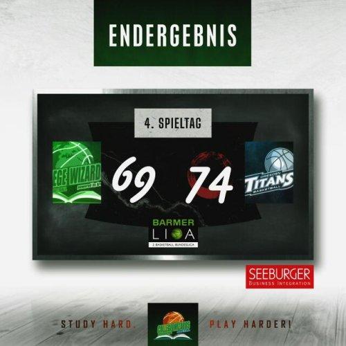 knappe Niederlage gegen die Dresden Titans