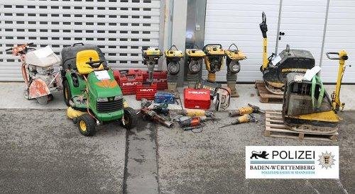 Baumaschinen gestohlen