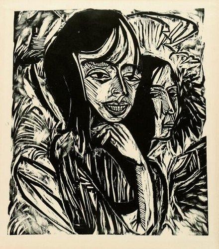 Expressionist und der Holzschnitt