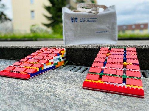 Rampen aus Legosteinen