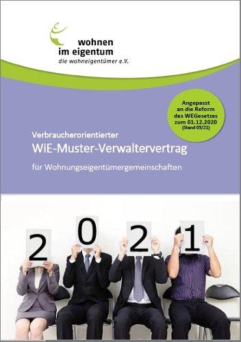 WiE-Muster-Verwaltervertrag (NEU - 2021)