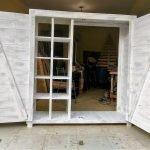 Repurposed Wooden Pallet Dressing Closet | Wood Pallet Furniture