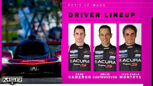 HELIO CASTRONEVES JOINS MEYER SHANK RACING'S PETIT LE MANS DRIVER LINE UP