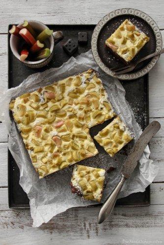 Rhabarber Cheesecake Brownies