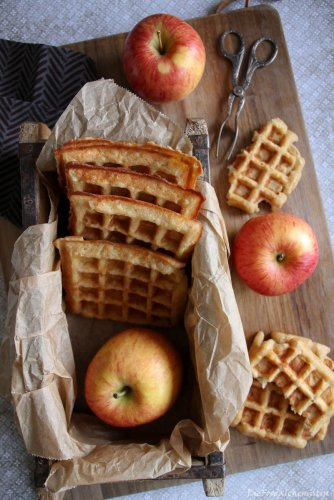 Apfel Quark Waffeln